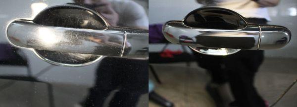 Двери авто до и после полировки