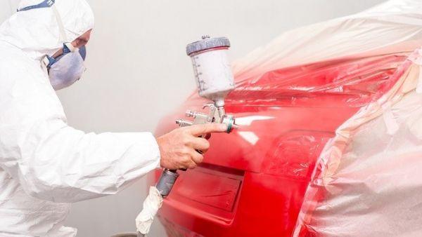 Покраска багажника в красный цвет