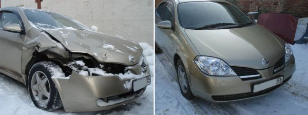 Рихтовка авто до и после